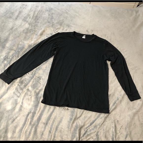 Uniqlo Tops - Uniqlo super soft black long sleeve tee